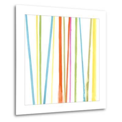 Cabana Stripes II-Erica J^ Vess-Metal Print