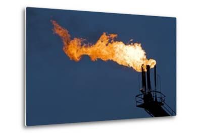 Natural Gas Flare-Paul Souders-Metal Print