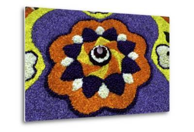 Floral Decorations During Onam Festival, Kerala, India, Asia-Balan Madhavan-Metal Print