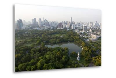 City Skyline with Lumphini Park-Lee Frost-Metal Print