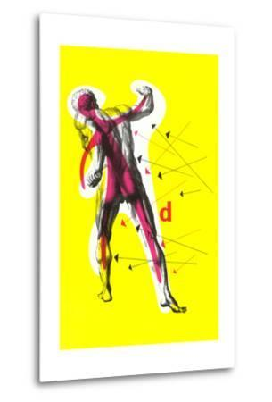 Poster of Arrows Pointing to Muscles--Metal Print