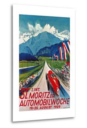 Poster for St. Moritz Car Show--Metal Print