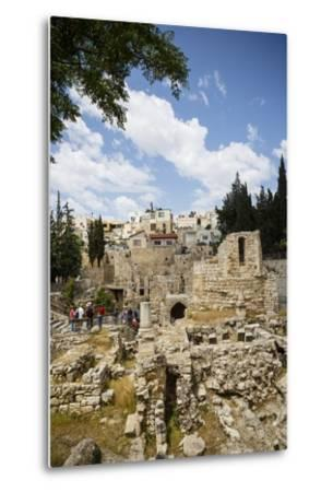 The Pool of Bethesda, the Ruins of the Byzantine Church, Jerusalem, Israel, Middle East-Yadid Levy-Metal Print