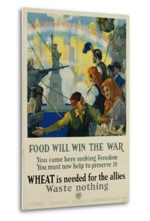 Food Will Win the War Poster-Charles Edward Chambers-Metal Print