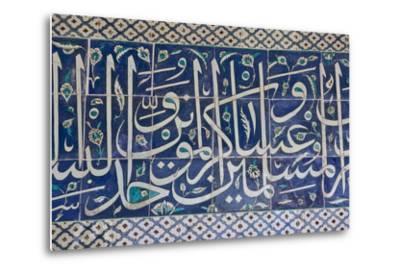 Decorative Tiles in Topkapi Palace, Istanbul, Turkey, Western Asia-Martin Child-Metal Print