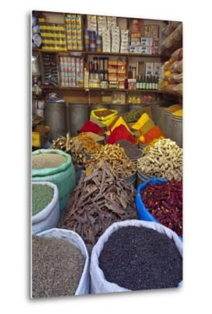 Spice Store, Medina, Fes, Morocco, North Africa, Africa-Doug Pearson-Metal Print