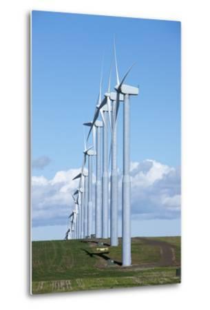 Windmills, Wallula, Washington-Paul Souders-Metal Print