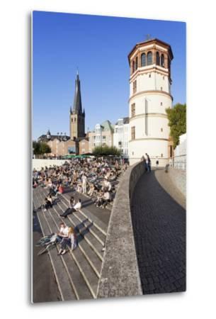 People on Stairs by the Rhine-Markus Lange-Metal Print