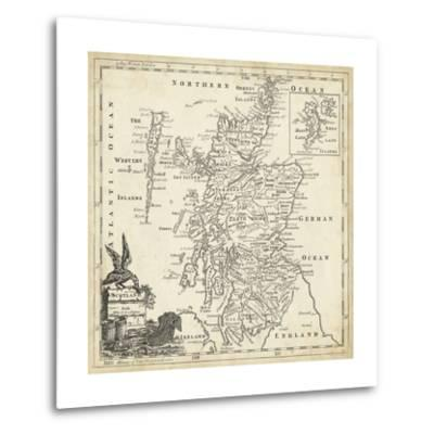 Map of Scotland-T^ Jeffreys-Metal Print