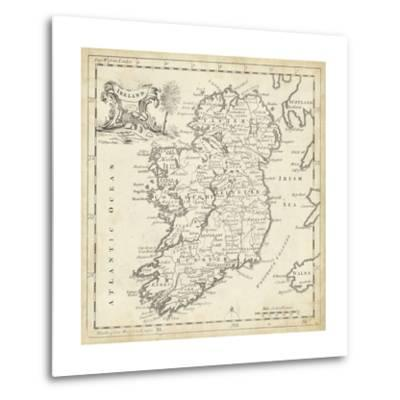 Map of Ireland-T^ Jeffreys-Metal Print