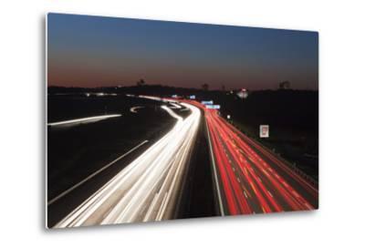 Rush Hour on the A8 Autobahn, Stuttgart, Baden Wurttemberg, Germany, Europe-Markus Lange-Metal Print