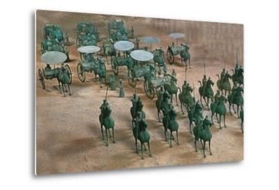 Eastern Han Dynasty Bronze Cavalry and Chariots--Metal Print