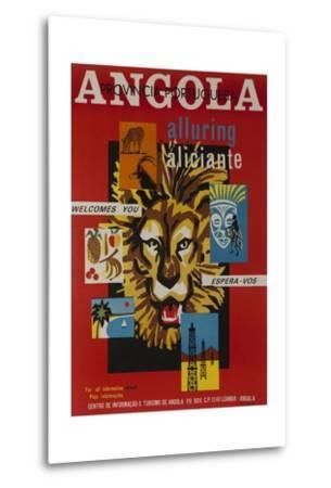 Alluring Angola Welcomes You, Tourism Office Travel Poster--Metal Print