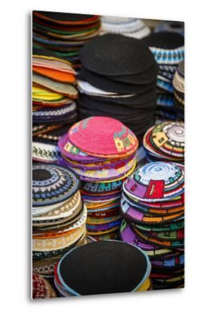 Colourful Kipas, Jerusalem, Israel, Middle East-Yadid Levy-Metal Print