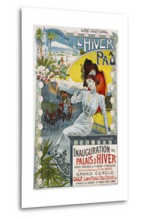 L'Hiver a Pau Poster-Vincent Lorant-Heilbronn-Metal Print