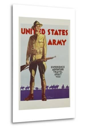 United States Army Poster-Tom Woodburn-Metal Print