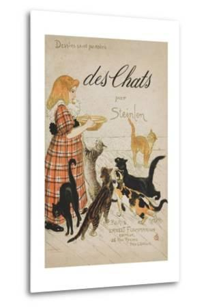 Des Chats Book Cover-Th?ophile Alexandre Steinlen-Metal Print
