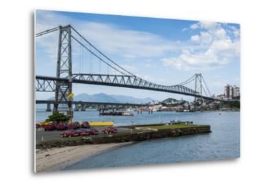 Bridge Linking Florianopolis on Ilha Catarina (Santa Catarina Island) with the Continent-Michael Runkel-Metal Print