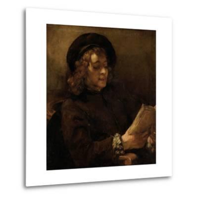 Titus Van Rijn, the Artist's Son, Reading-Rembrandt van Rijn-Metal Print
