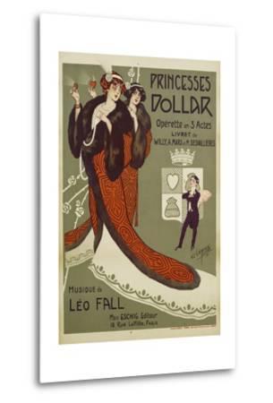 Princesses Dollar Poster-Clerice Freres-Metal Print