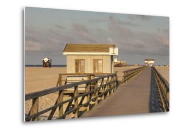 Pier and Sandy Beach-Markus Lange-Metal Print