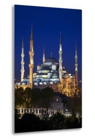 Blue Mosque (Sultan Ahmet Camii), UNESCO World Heritage Site, at Dusk, Istanbul, Turkey, Europe-Neil Farrin-Metal Print