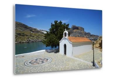 St. Paul Beach, Lindos, Rhodes, Dodecanese, Greek Islands, Greece, Europe-Tuul-Metal Print