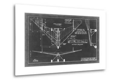 Aeronautic Blueprint V-Vision Studio-Metal Print