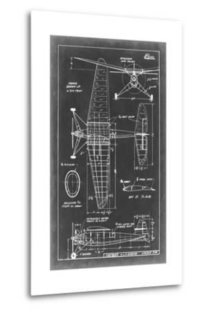 Aeronautic Blueprint IV-Vision Studio-Metal Print