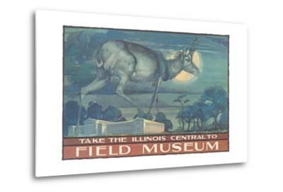 Poster for Field Museum with Horned Antelope--Metal Print