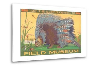 Poster for Field Museum with Porcupine--Metal Print