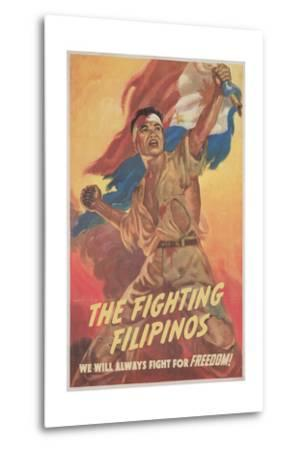 Filipino Freedom Fighter Poster--Metal Print