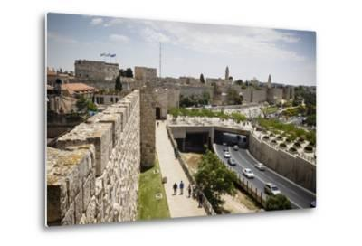 The Old City Walls, UNESCO World Heritage Site, Jerusalem, Israel, Middle East-Yadid Levy-Metal Print
