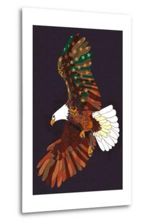 Americana - Soaring Eagle-Lantern Press-Metal Print