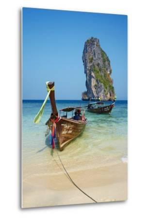 Ao Phra Nang Bay, Ko Poda Island, Krabi Province, Thailand, Southeast Asia, Asia--Metal Print
