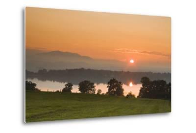 Sunset on Lake Staffelsee-Frank Lukasseck-Metal Print