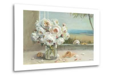 Coastal Roses v.2-Danhui Nai-Metal Print