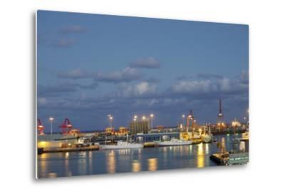 Harbor at Night, Las Palmas, Gran Canaria, Spain-Guido Cozzi-Metal Print