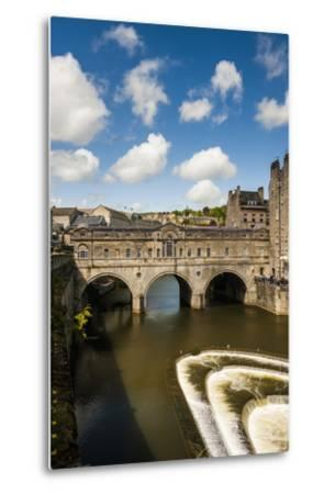 Pulteney Bridge over the River Avon, Bath, Avon and Somerset, England, United Kingdom, Europe-Matthew Williams-Ellis-Metal Print