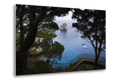 Faraglioni from Giardini (Gardens) Di Augusto, Capri, Capri Island, Campania, Italy-Massimo Borchi-Metal Print
