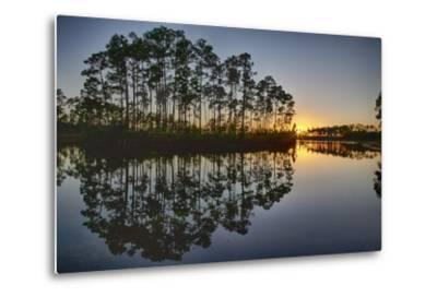 Sunset in Long Pine Area of Everglades NP-Terry Eggers-Metal Print