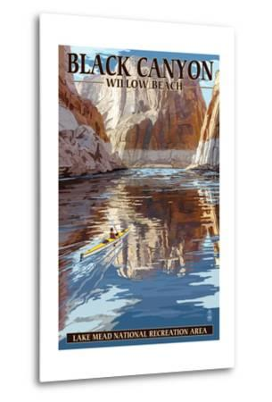Lake Mead - National Recreation Area - Black Canyon Kayaker-Lantern Press-Metal Print