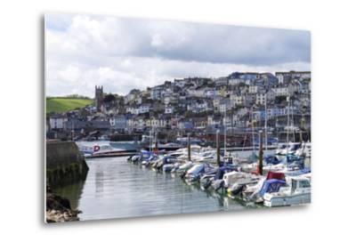 Brixham Harbour and Marina, Devon, England, United Kingdom, Europe-Rob Cousins-Metal Print