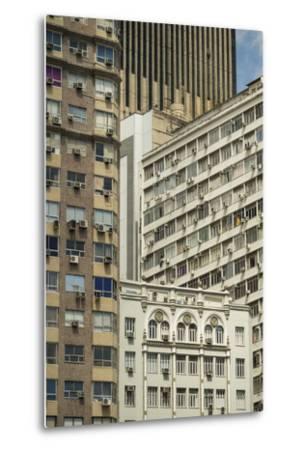 Architecture in Central Rio De Janeiro, Brazil, South America-Ben Pipe-Metal Print