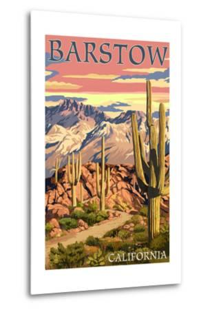 Barstow, California - Desert Sunset-Lantern Press-Metal Print