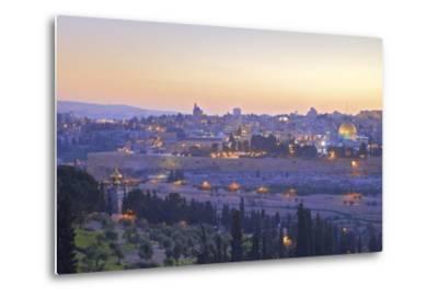 View of Jerusalem from the Mount of Olives, Jerusalem, Israel, Middle East-Neil Farrin-Metal Print