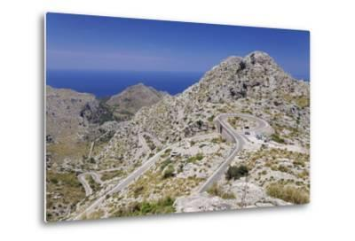 Serpentine Road to the Bay Cala De Sa Calobra-Markus Lange-Metal Print