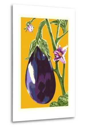Eggplant-Lantern Press-Metal Print