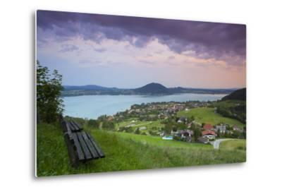 Elevated View over Picturesque Weyregg Am Attersee Illuminated at Dawn, Attersee, Salzkammergut-Doug Pearson-Metal Print