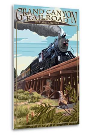 Grand Canyon Railway, Arizona - Trestle-Lantern Press-Metal Print